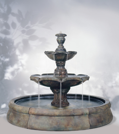 outdoor stone fountains